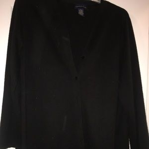 Black long button up sweater